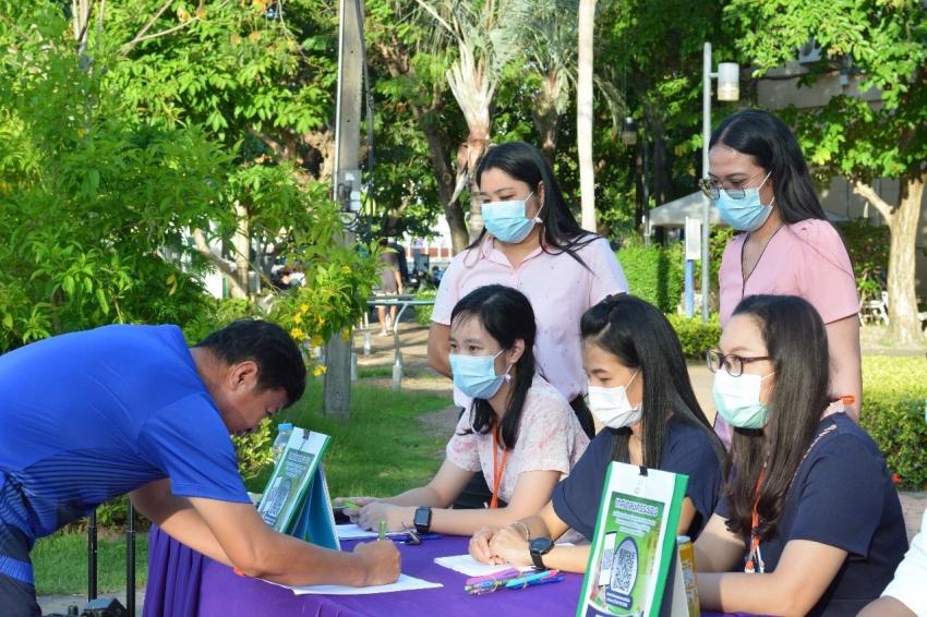 ลงพื้นที่ให้ประชาชนร่วมแสดงความคิดเห็นในการปรับปรุงสวนสาธารณะสวนศรีเมือง
